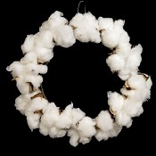ISB60230 - 4in Country cotton ball Ring-12/144pcs