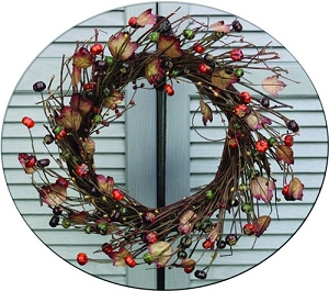 ISB95052 - 18in Country Podka Pods Wreath-2/12pcs