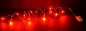 M9573 - Led BudsString-12Lt, 4ft, 2xCE2032-Red-1/200pcs