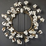 ISB63680 - 22in Cotton Ball wreath-2/16pcs